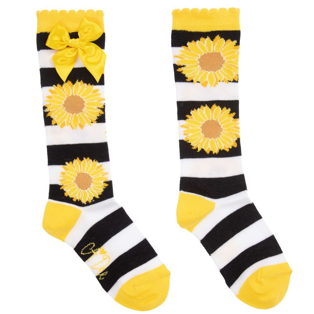 5722e1e08 A Dee - Yellow Cotton Sunflower Socks