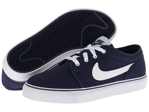 Nike Toki Low Canvas Athletic Shoes Children Midnight Navy / White