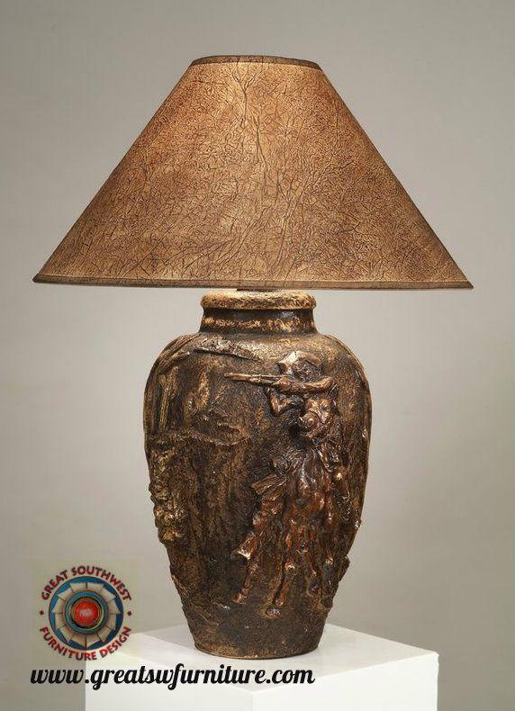 Indian Deer Southwest Table Lamp Ach 6185 Lamp Modern Lamp Table Lamp