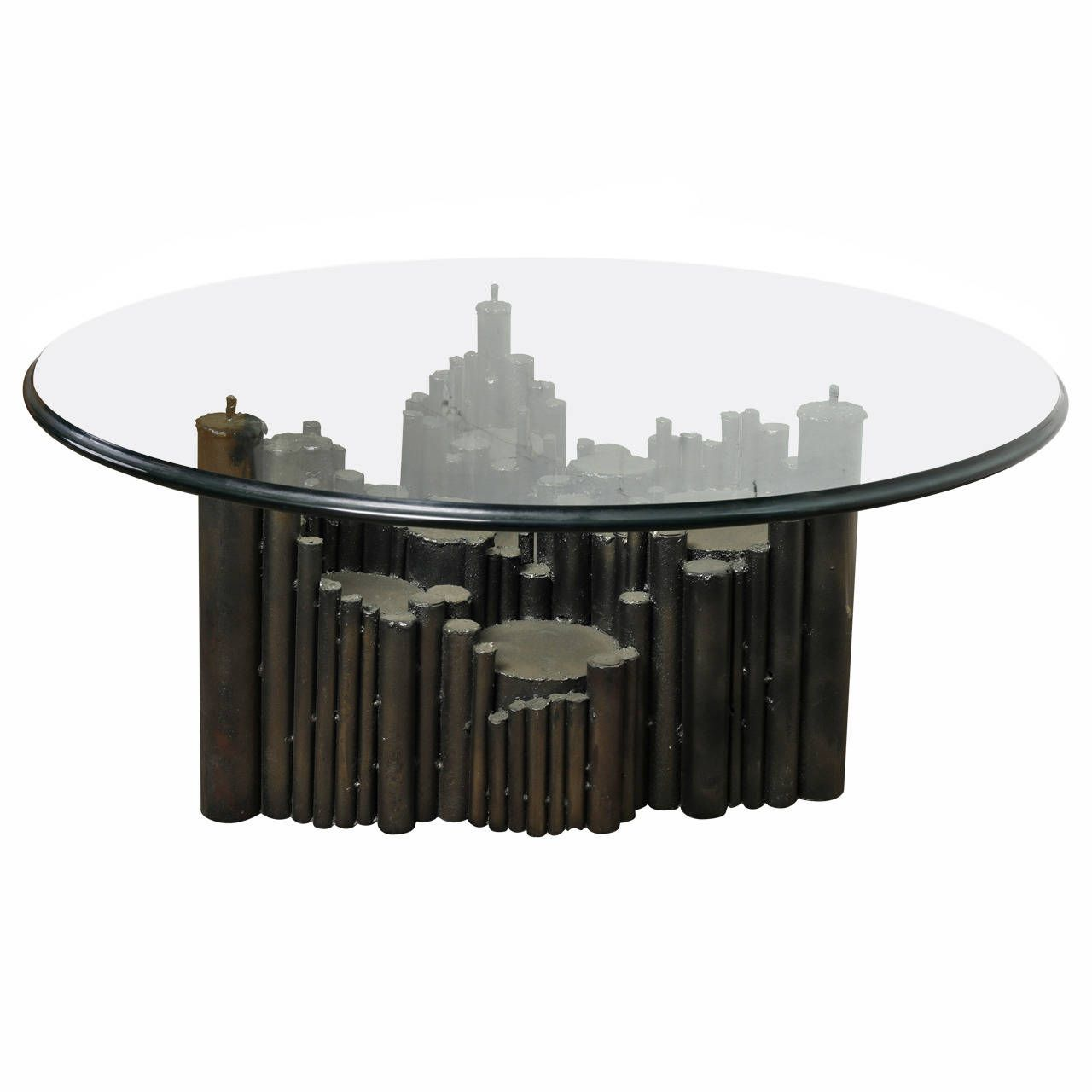 Brutalist Sculpted Steel Coffee Table In The Style Of Marcello Fantoni 1970s Coffee Table Steel Coffee Table Table