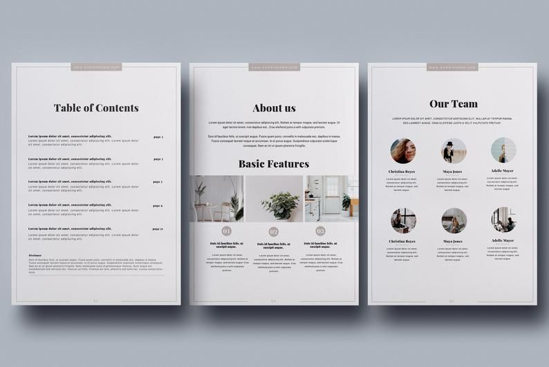 Client packet canva template service guide etsy