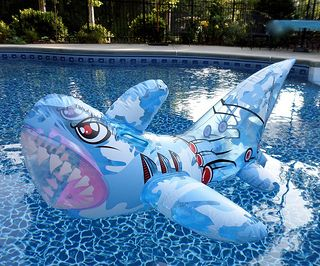 Shark Pool Party Ideas wet n wild shark pool party Dont Be Afraid Of This Shark Lurking In Your Pool Hop On Him