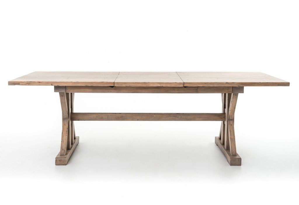Tuscan Spring Extension Dining Table In Sun Dried Wheat