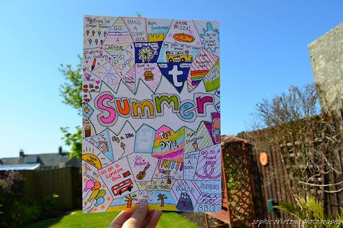 Make a collage/ drawing thing of what u did this summer:)