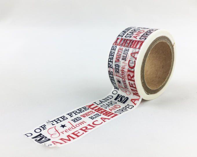 ec4027fa84e2 America Words Pattern Washi Tape