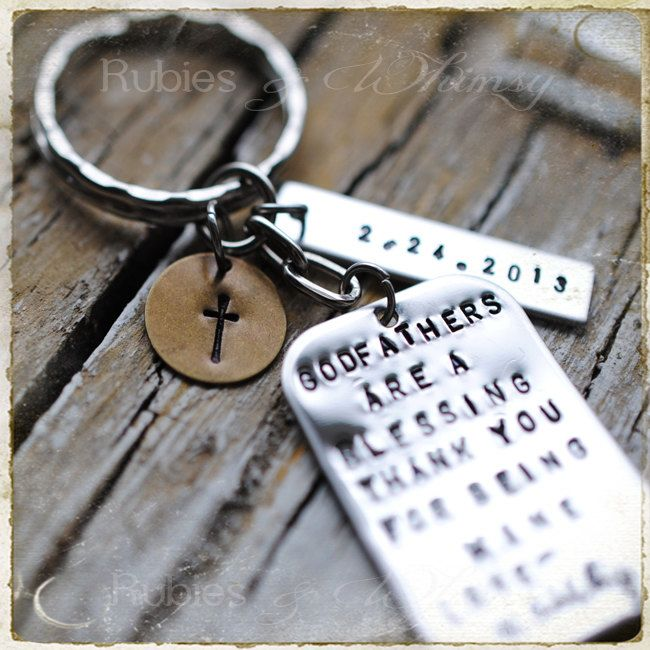 Godfather/Godmother Personalized Keychain, Gift for Godparents ...