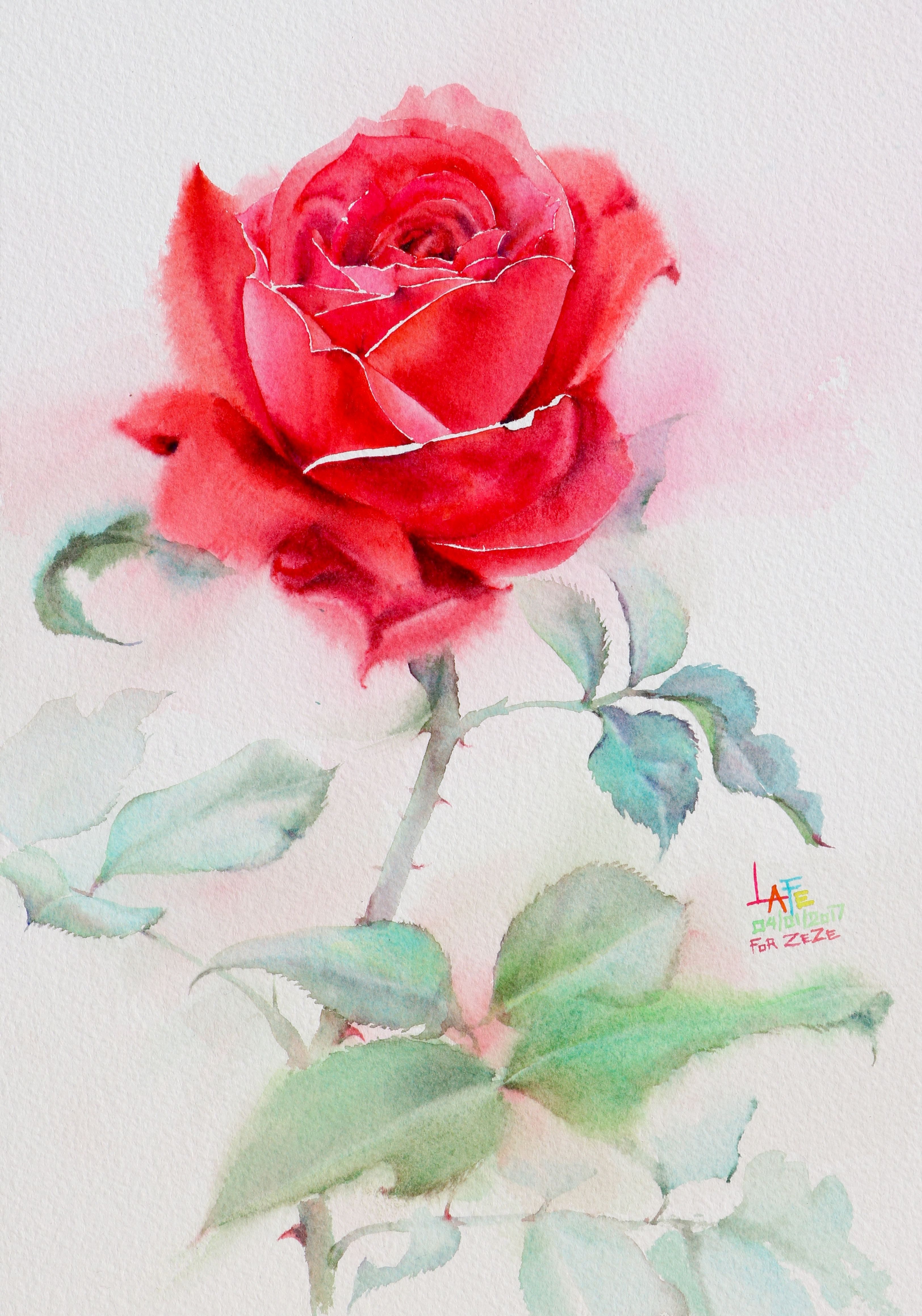 Watercolor without drawing by LaFe | Watercolor without Drawing ...
