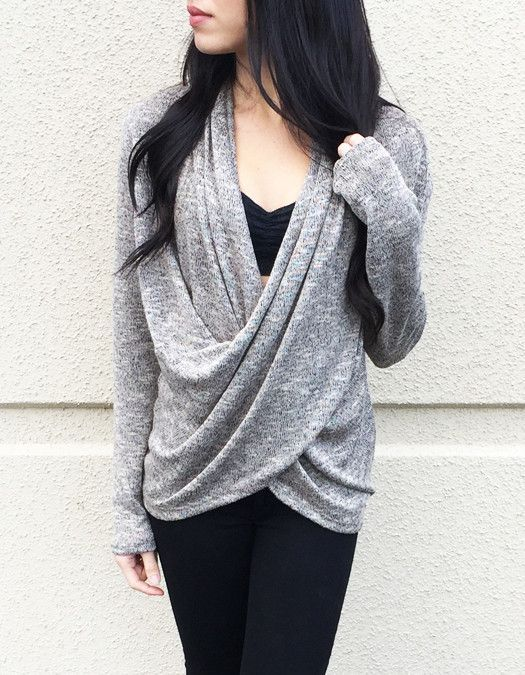 Wrapped Up Sweater Top
