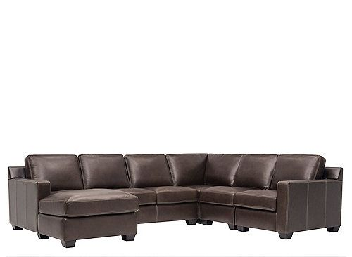For A Clean Contemporary Living Room With Plenty Of Comfort Look To The Anaheim 5 Piece Leather Sectional Sofa This Features Stylish