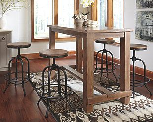 Pinnadel Dining Room Bar Tabl 4 Tall Swivel Stools By Signature Design Ashley Get Your At Owens