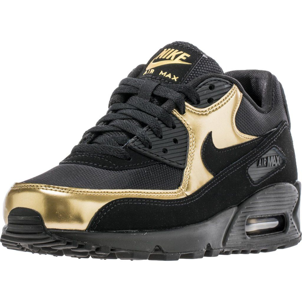 31210cfd385f NIKE AIR MAX 90 ESSENTIAL MEN S - BLACK GOLD – ShopNiceKicks.com