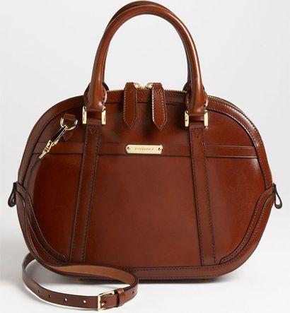 Burberry Glazed Leather Bowling Bag