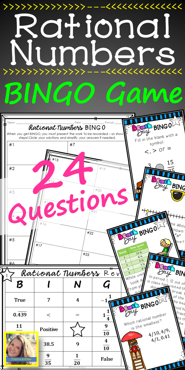 Rational Numbers BINGO Game (With images) Rational