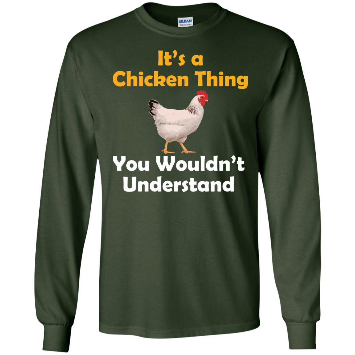 Funny chicken gift chicken thing shirt ls ultra cotton