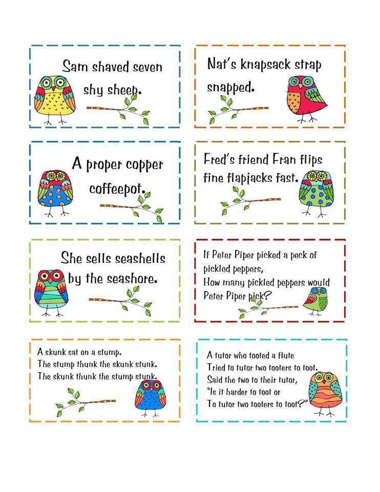 Image result for tongue twisters for esl students