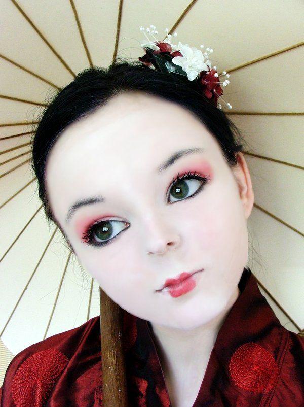 aprende a maquillarte como una geisha geisha dramatic