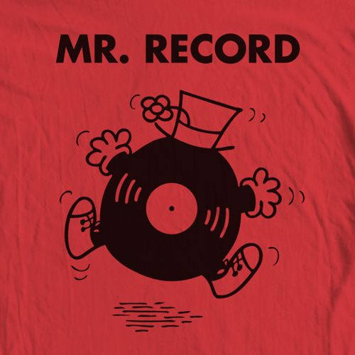 Mr Record T Shirt Records Vinyl Music Turntables Art