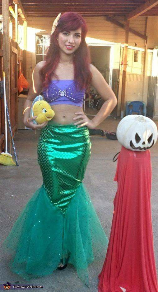 My costume from Halloween Little Mermaid - Homemade Halloween Costume for Adolescents/Adults. Too cute wish I had more time to do this!  sc 1 st  Pinterest & La sirenita | costumes | Pinterest | Costumes Birthdays and Mardi gras