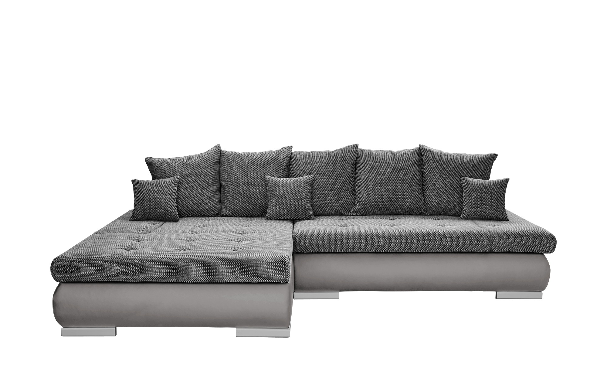 Switch Eckcouch Grau Kunstleder Webstoff Ivan Big Sofas Couch