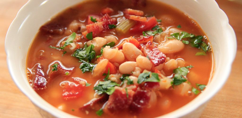 Bean with Bacon Soup By Ree Drummond