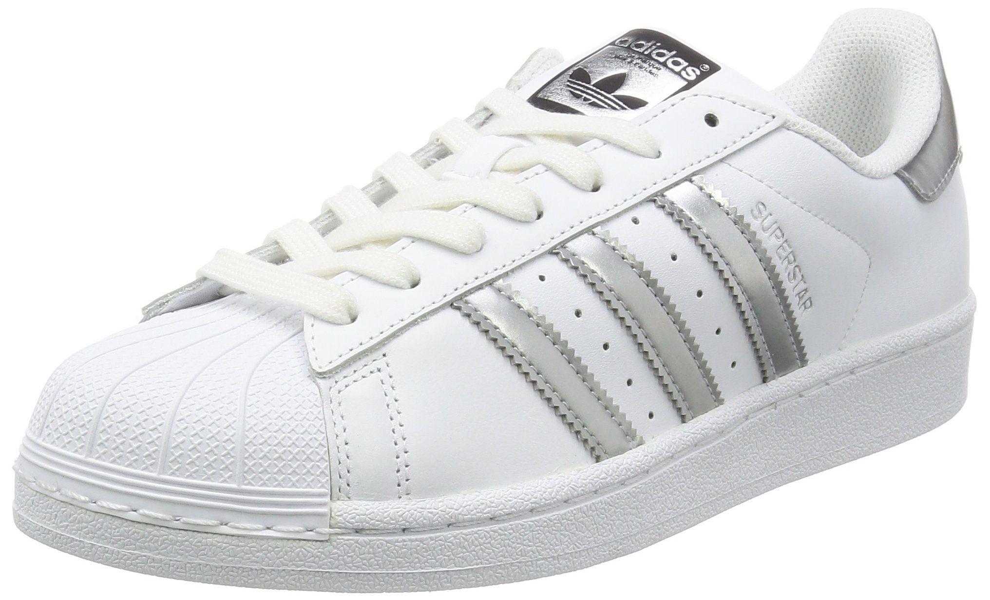 Gratificante Salón principalmente  Adidas Originals Superstar White/Silver Leather 7 B(M) US Women. Model  Number: AQ3091. Gender: w… | Adidas superstar women, Adidas originals  superstar, Adidas women