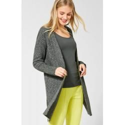 Photo of Street One – Strickjacke mit Schlitzen in Powder Green Melange Street OneStreet One