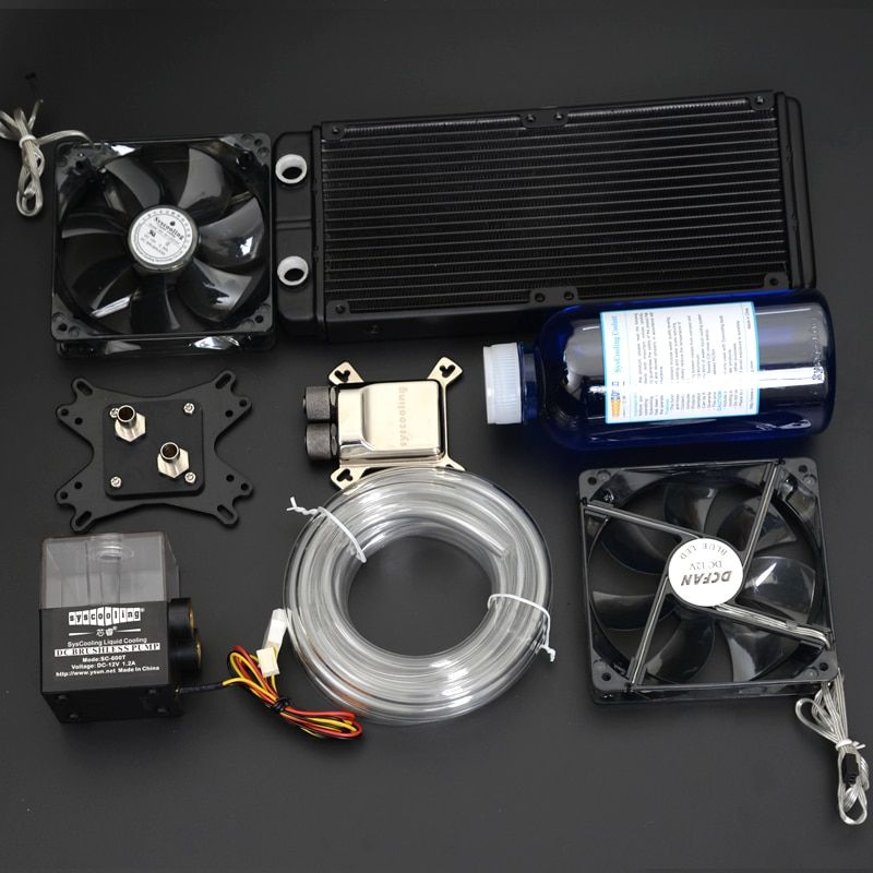 Syscooling Water Cooling Kit With Aluminum Heat Sink Cpu Water