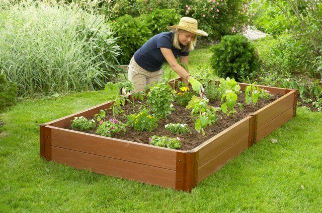Gemüsegarten anlegen Ideen Hochbeet Holzkasten | Garten ...