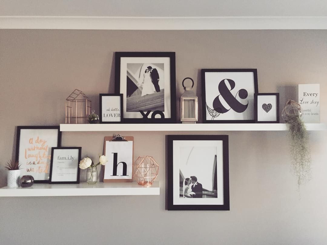 "Home Styling on Instagram: ""Who doesn't enjoy a bit of shelfie love on this beautiful sunny Saturday morning!! Can't stop staring at this ever evolving space!! #shelfie #shelfiesaturday #interior #interiorstyling #home #myhome #ikeaaustralia #kmartaus #monochrome #copper #pocketofmyhome #creativespacesbychloe #airplant #love #sharemystyle #mystyle #lovemyikea #OLIVEETORIELBR"" #wandregaledekorieren"