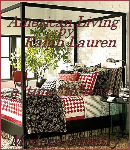 Merveilleux Mixing Red And Black Toile | Details About New American Living MODERN  COUNTRY FULL Comforter+Set