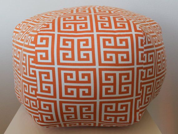 24 ottoman pouf floor pillow towers orange by aletafae on etsy nursery for baby. Black Bedroom Furniture Sets. Home Design Ideas