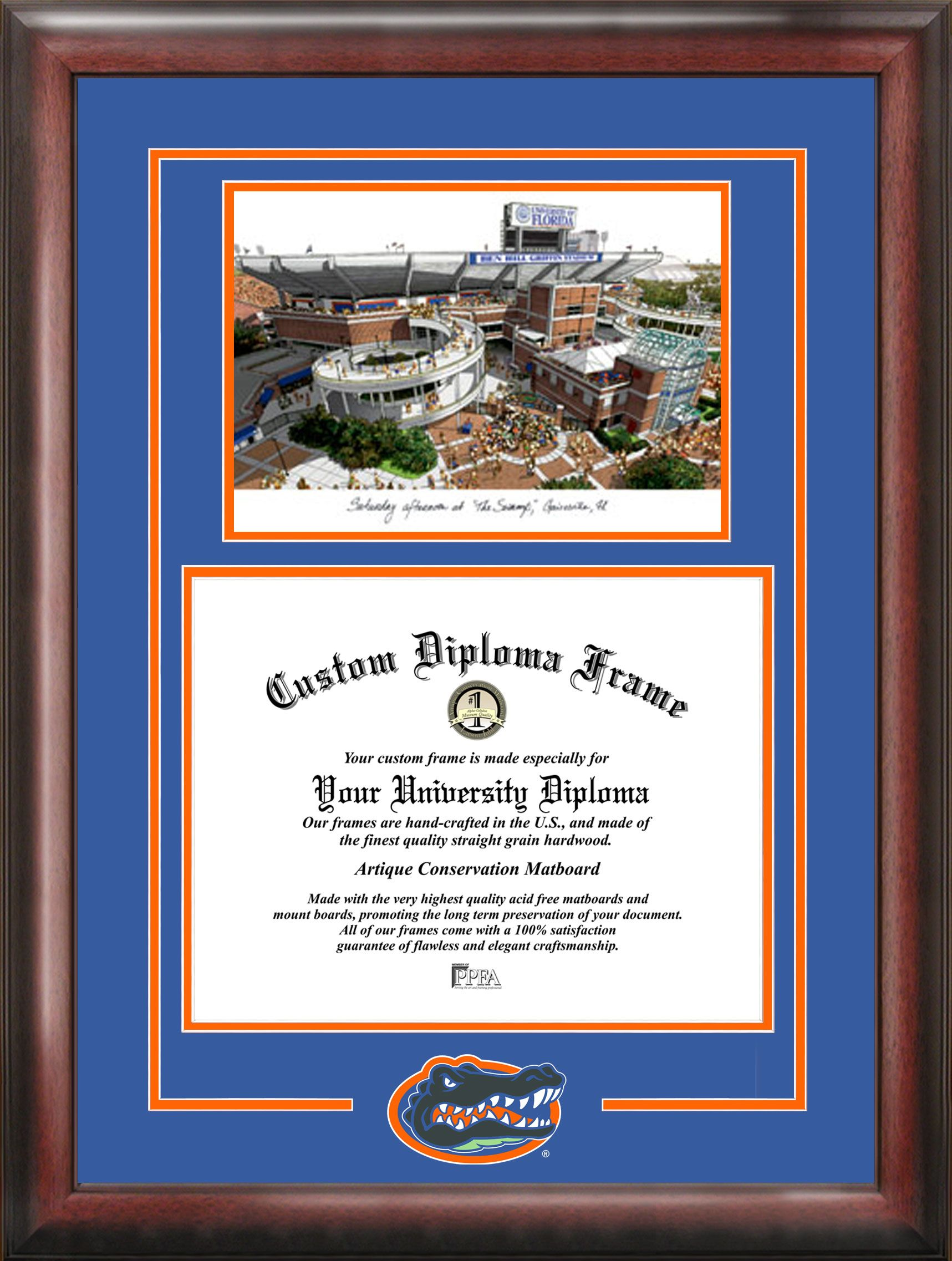university of florida degree frame | College Diploma Frames with ...