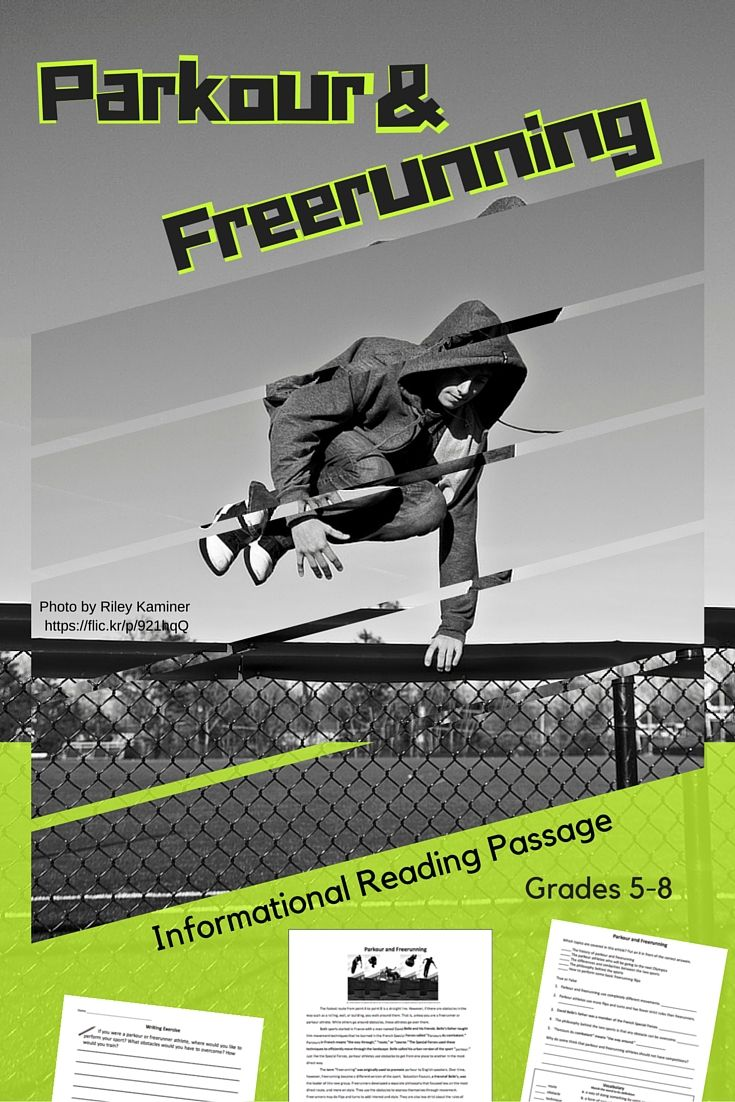 Informational Reading Passage - Parkour and Freerunning | Middle and