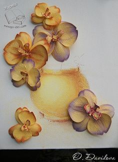 Russian site using foam for orchids. But use this site for coloring inspiration for my new large Orchid die.