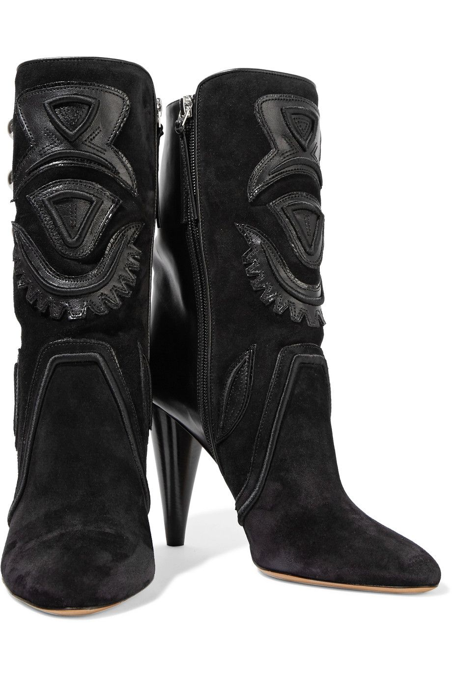 ab6c99a8adc0 Shop on-sale Isabel Marant Liv suede and leather ankle boots. Browse other  discount designer Boots & more on The Most Fashionable Fashion Outlet, ...