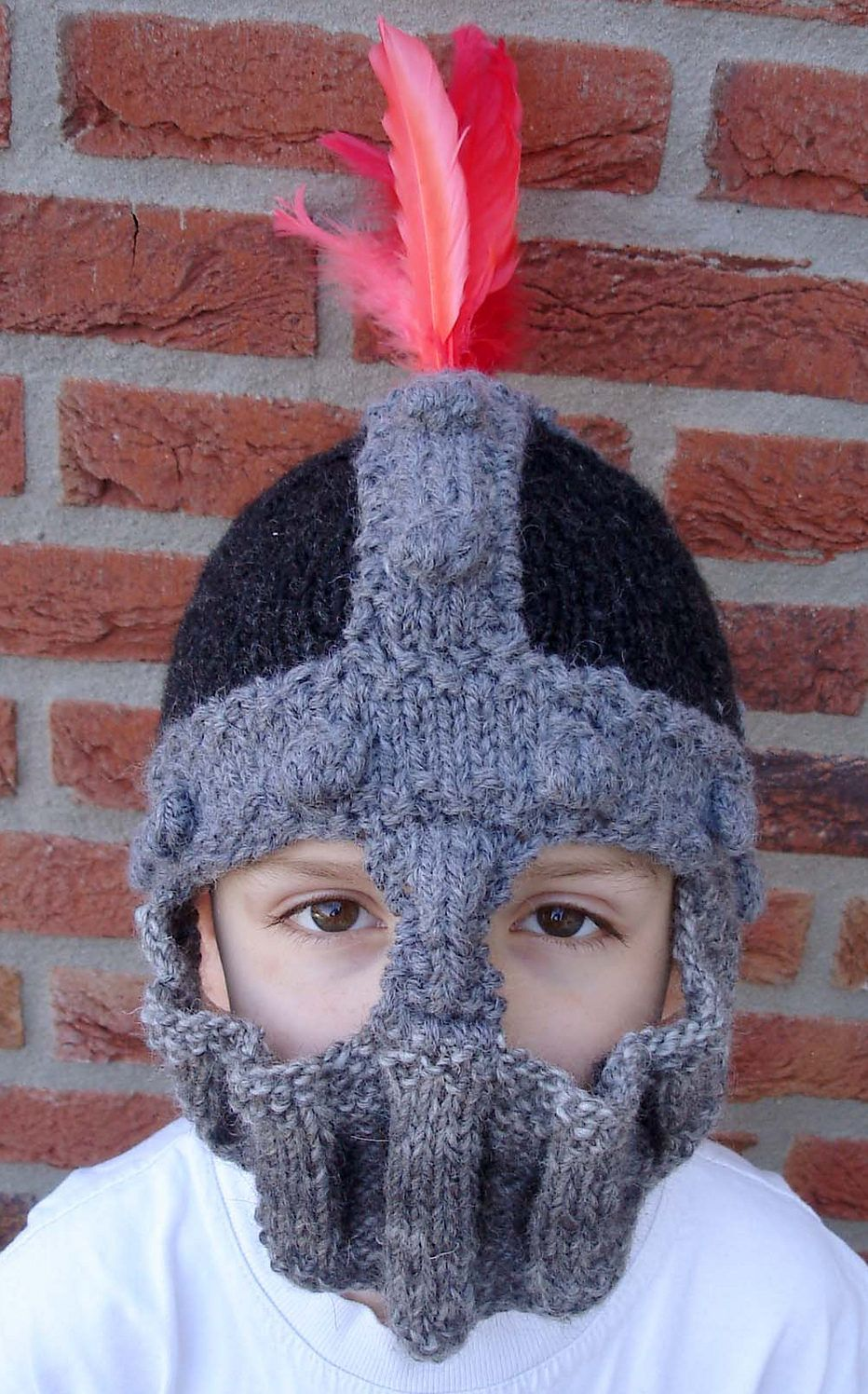 Free Knitting Pattern for Knight Helmet - This helmet balaclava ...