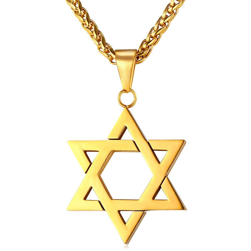 Jewish Jewelry Magen Star of David Pendant Necklace Women Men Chain