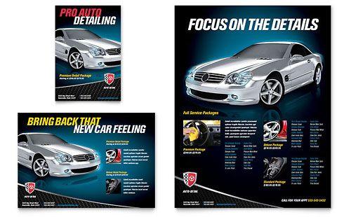 Auto Detailing Flyer Ad Template Design Car Detailing Flyer Template Template Design