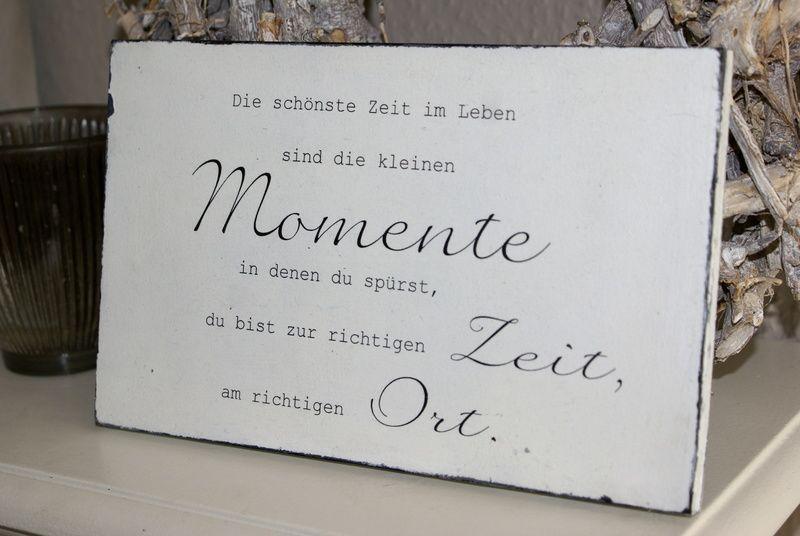 """Schild """"Die schönste Zeit …"""" Shabby Chic von white-living-art auf DaWanda.com"""