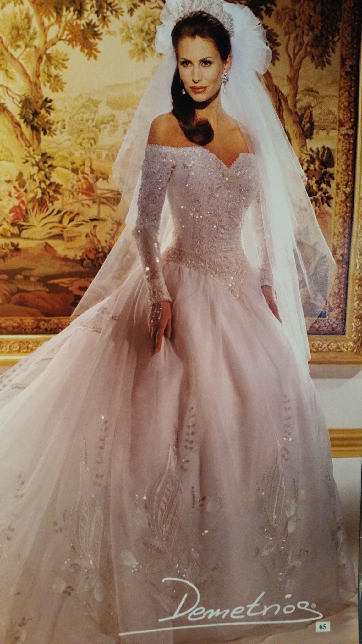 Demitrious Wedding Gowns.Demetrios 1995 Demetrios In 2019 Antique Wedding Dresses