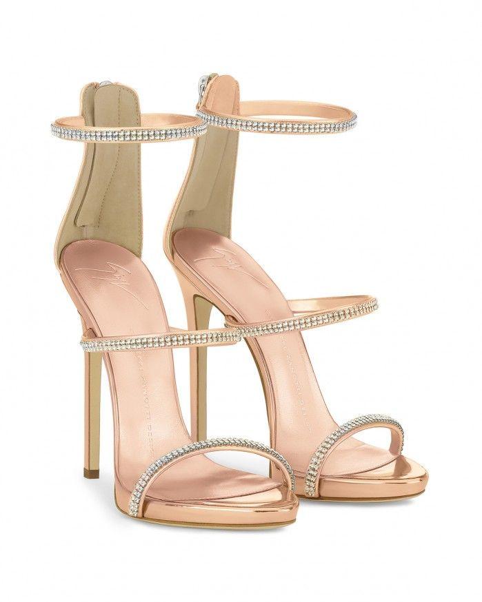 Giuseppe Zanotti Blush patent sandal with three straps HARMONY T24Y8