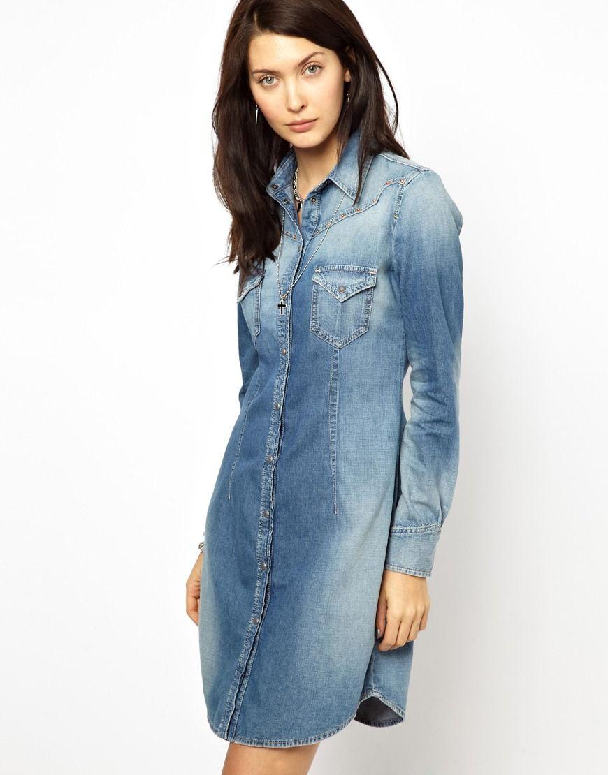 5748553356 Diesel Western Shirt Dress