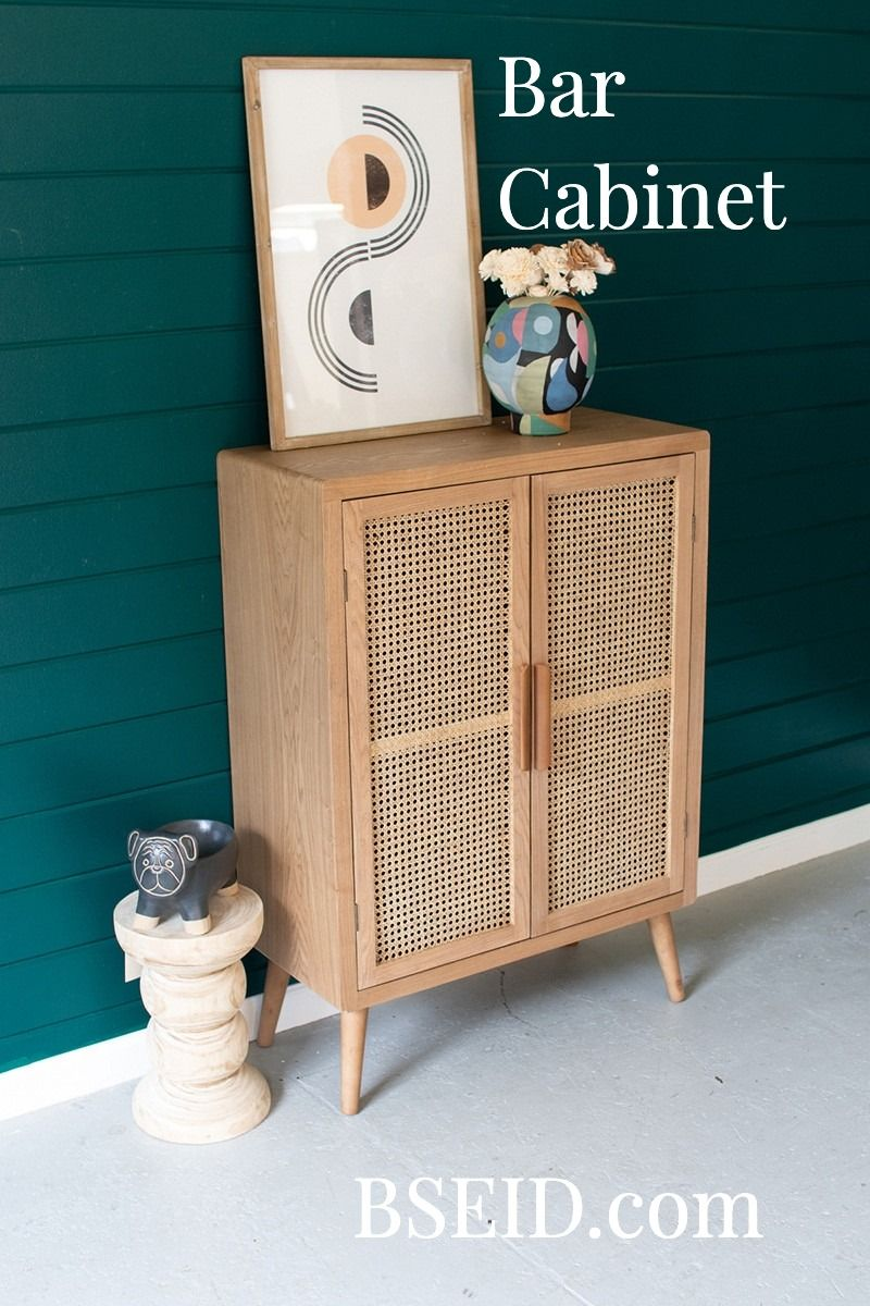 Unique Mid Century Furniture Wood And Cane Doors Tall Cabinet Cane Doors Cane Media Cabinet Wood Cabinets