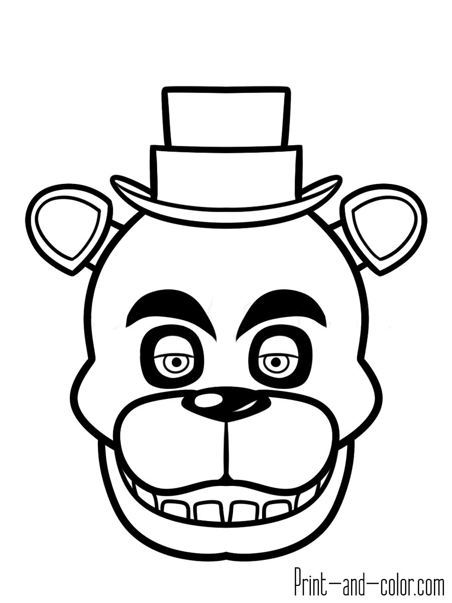 Five nights at freddy\'s coloring pages | Print and Color.com | Tyler ...