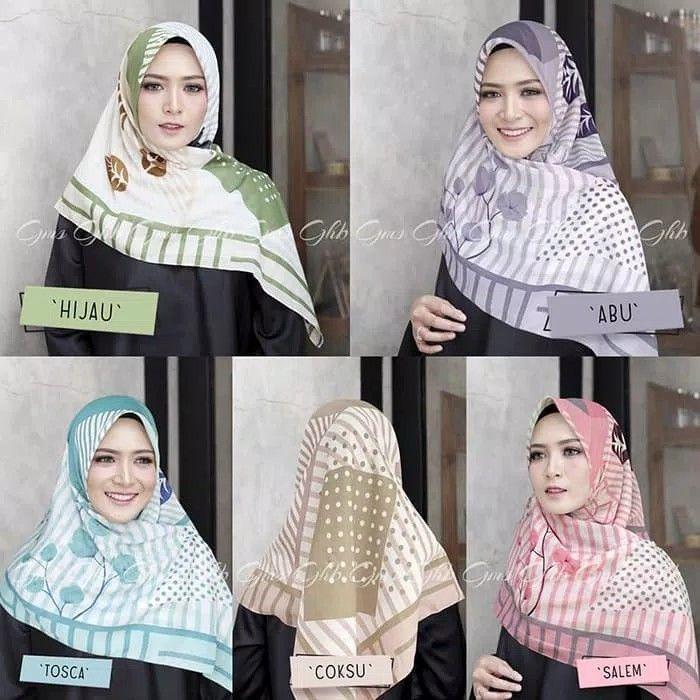 Segiempat Voal Bougenville Hijab Segiempat Bahan Katun Voal Premium Bahan Lebih Tebal Dengan Motif Bunga Kertas Bougenv Model Pakaian Gaya Hijab Kursus Hijab
