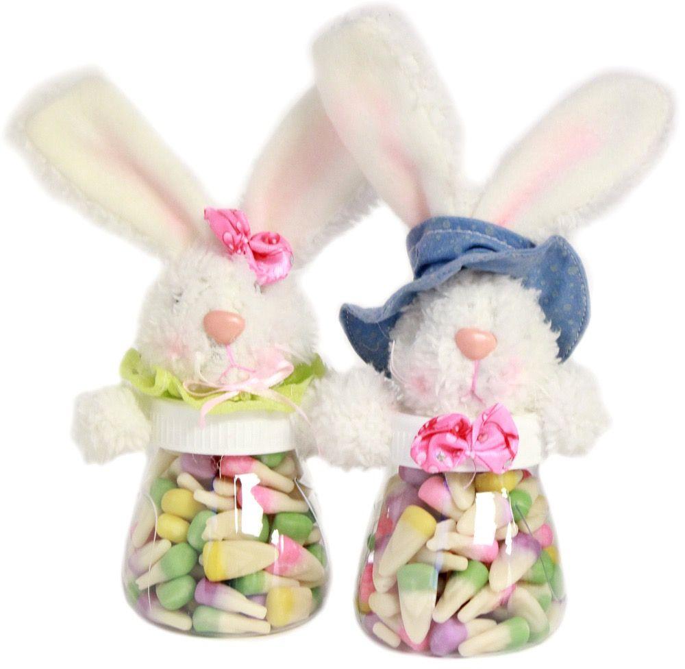 Pin by sharon daines wagner on plush treat jars bags pinterest this cute acrylic and plush easter bunny candy jar comes filled with ounces of sixlets pastel colored spring mix candy coated chocolates negle Gallery