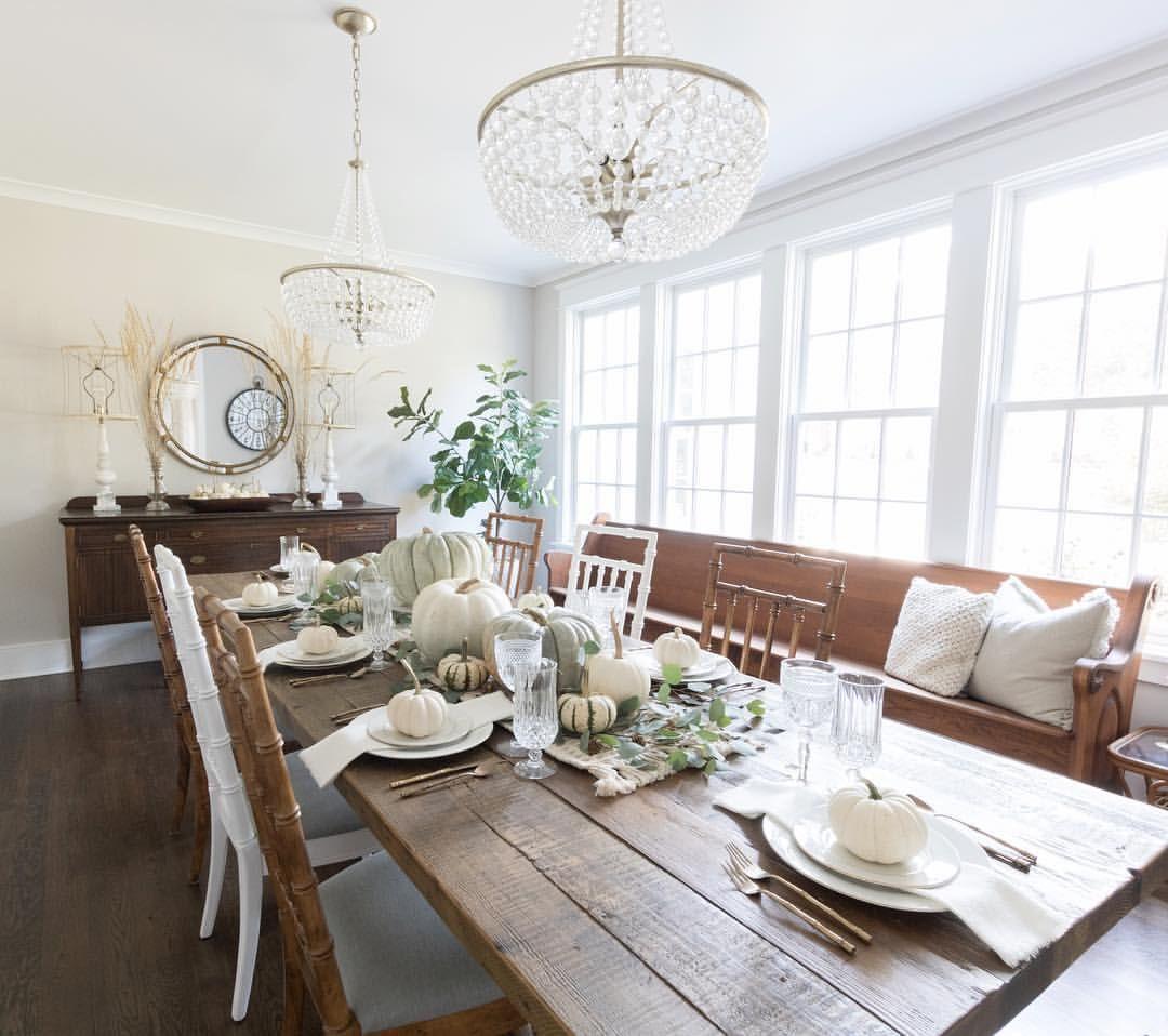 Fall tablescape, centerpiece, white pumpkins, heirloom pumpkins ...