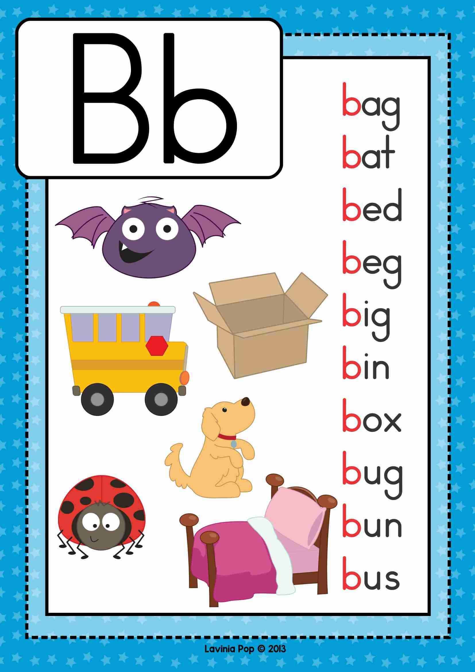Alphabet Phonics Letter Of The Week B Preschool Pinterest