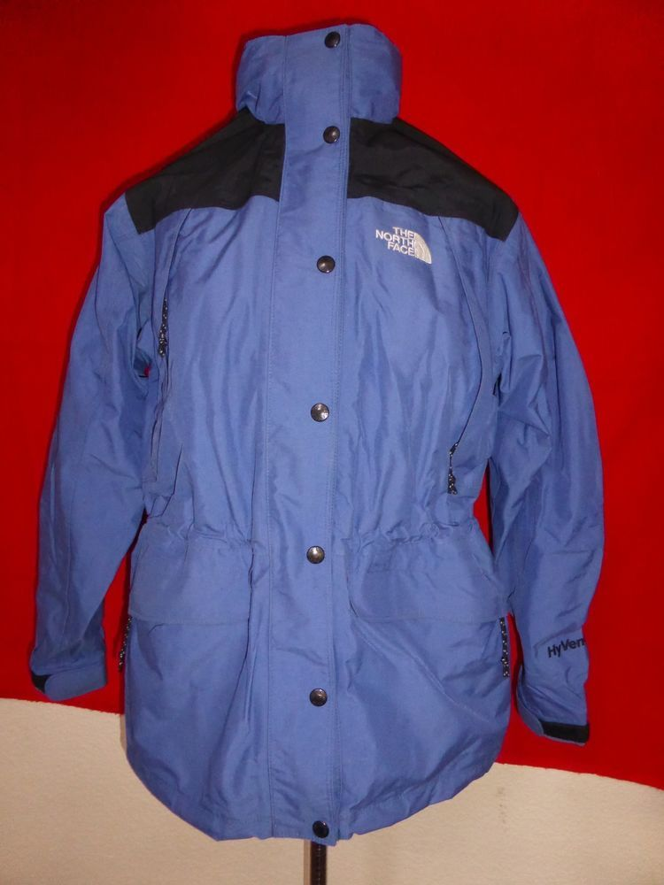 18f1a1f00 The North Face HyVent Vintage Rain Hooded Womens Jacket Coat Blue sz ...