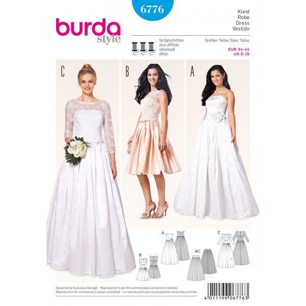 Střih Burda číslo 6776 | Šaty | Pinterest